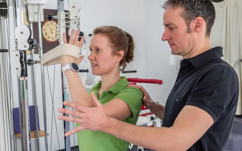Gerätetraining in der Pysiotherapie